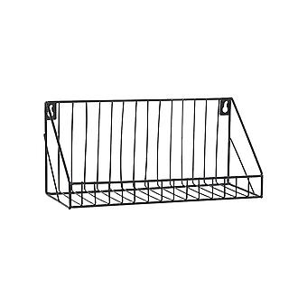 Creative Wall-mounted Iron Storage Racks Home Decoration Small Black