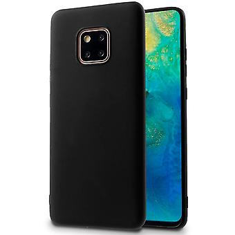 Protection mobile souple pour Huawei Mate 20 Pro Shell Silicone Black