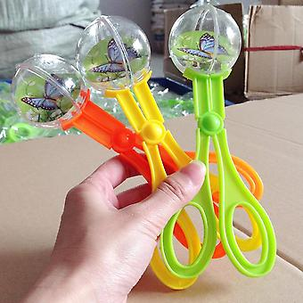Bug Insect Catcher Scissors Tongs Tweezers Scooper Clamp Kids Toy Cleaning Tool