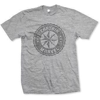 Marvel Comics Captain Marvel Grey Circle Official Tee T-Shirt Unisex