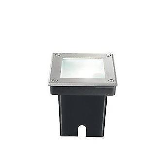 1 Light Square Recessed Spotlight Steel IP65, G9