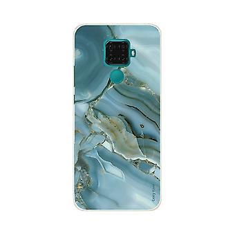 Hülle für Huawei Mate 30 Lite Flexible Marmor-Effekt Design