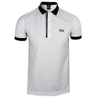 هوغو مدرب الرجال & apos;s أبيض بول 4 قميص البولو