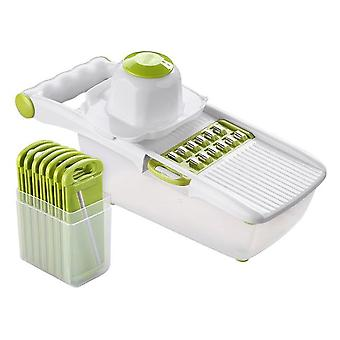 Kitchen Manual Vegetable Cutter Slicer - Stainless Steel Interchangeable