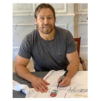 Jonny Wilkinson unterzeichnete England Rugby-Shirt