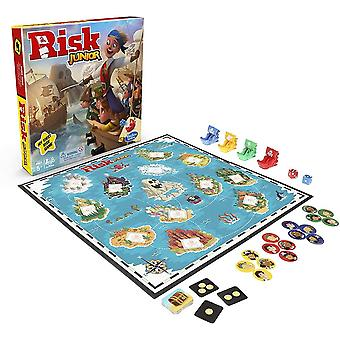 Hasbro gaming risk junior game, strategy board game, a child's intro to the