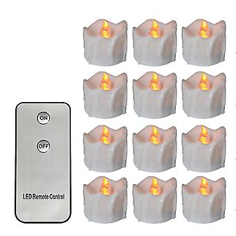 Pack de 12 Remote or not Remote New Year CandlesBattery Powered Led Tea LightsTealights Fake Led Candle Light Easter Candle