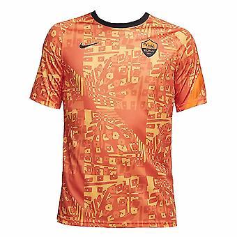 2020-2021 ローマ試合前トレーニングシャツ(オレンジ)
