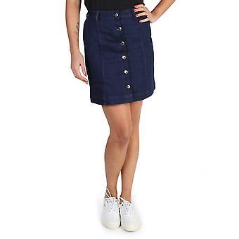 Tommy hilfiger ženy's modrými předními knoflíky, které zapínají sukni