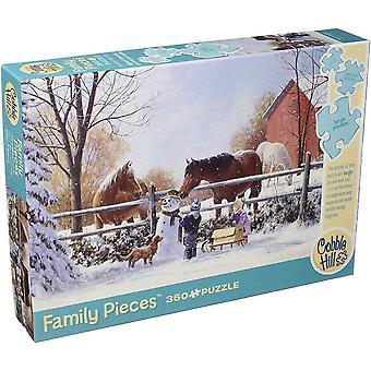 Cobble hill puzzle - frosty friends - 350 pc