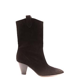 Aquazzura Ezbc440011 Women's Stivali alla caviglia in suede nero