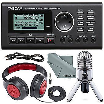 Pack studio guitare incluant tascam gb-10 - usb guitar/bass trainer/recorder + samson sr 550 over-ear studio headphones + samson mete