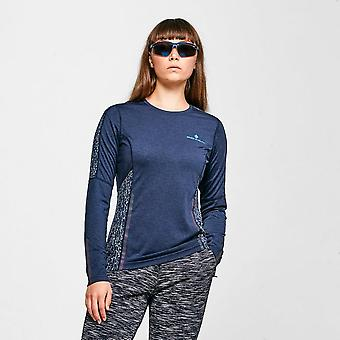 New Ronhill Women's Nightrunner Long Sleeve Tee Navy