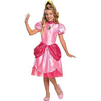 Jente's Princess Peach Klassisk Kostyme