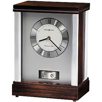 Howard Miller Gardner Mantel Clock - Dark Brown/Silver