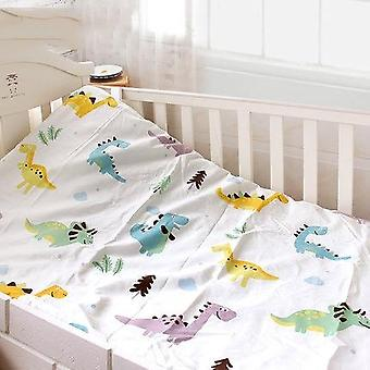 Cotton Matress Cover For Baby Crib, Printed Fitted Sheet With Elastic, Bedding