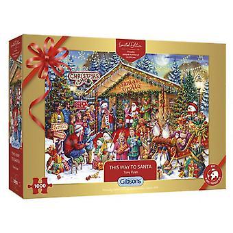Gibsons Puzzel Christmas Limited Edition Puzzel- Deze manier naar Santa 1000 stukken