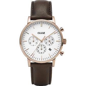 Cluse CW0101502002 Aravis Chrono Brown Leather Wristwatch