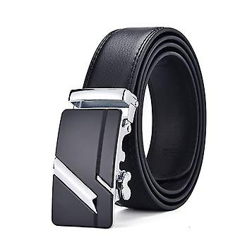 أحزمة حزام جلدية حقيقية، رجال الأوتوماتيكية مشبك أسود بومربوندس أحزمة