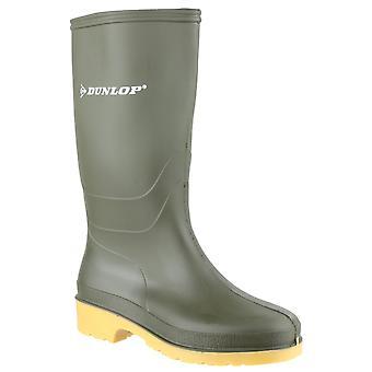 Dunlop kids dull wellington boots green 22229