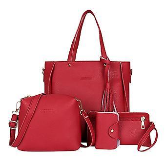 Borsa a quattro pezzi, spalla e messaggero, borsa portafoglio per donna