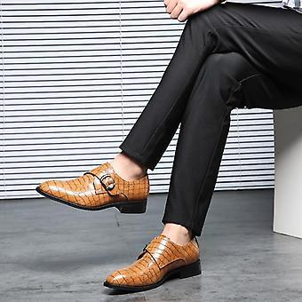 Pánské módní šaty kůže elegantní obchodní kancelář svatební boty