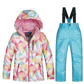 Děti větruodolný, vodotěsný teplý unisex lyžařský oblek