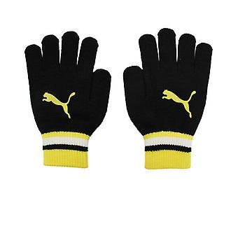 Puma Black Yellow Cat Logo Magic Mens Womens Unisex Guanti 041124 01 A187D