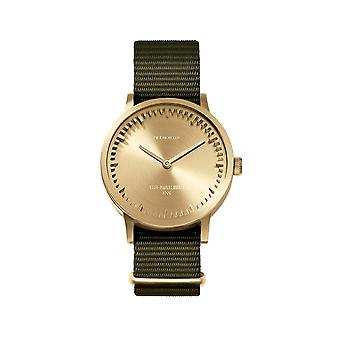 Leff Amsterdam LT74333 Green Nato T32 Brass Tube Wristwatch