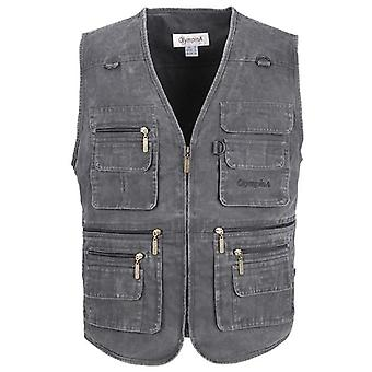 Big Size Fishing Vest With Many Pockets Men Sleeveless Jacket Waistcoat