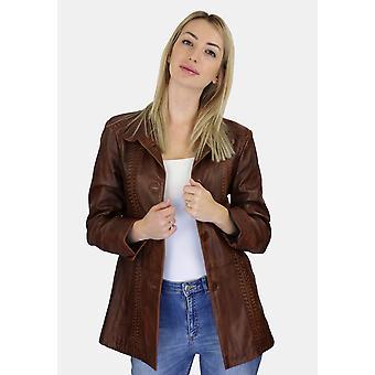 Kvinners skinn kort coat Ilona