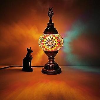 Lampe de table en mosaïque turque Vintage Art Déco Handcrafted Romantic Bed Light