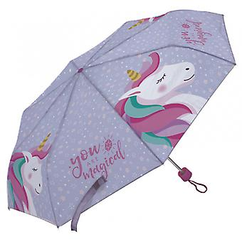 Kinderparaplu Unicorn 91 Cm Polyester Paars