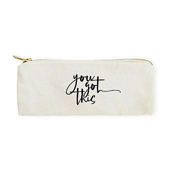 You Got This-cotton Canvas Pencil Case And Travel Pouch