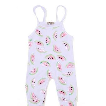 Baby Girl White Watermelon Romper