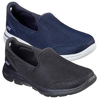 Skechers Womens 2021 Go Walk 5 Comfort Mesh Breathable Sports Trainers