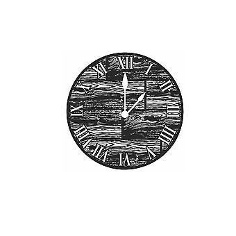 Wood Grain Metal Clock Imagery