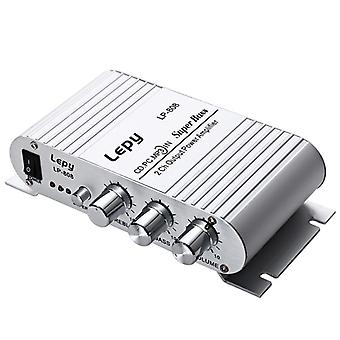 Lepy LP-808 12V MiNi Portable Wired HiFi Amplifier For Home Car Phone