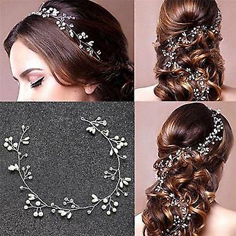 1pcs Fashion Vintage Pearls  Leaves Sweet Wedding Bridal Headband Bride
