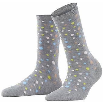 Burlington Dot Socks - Light Denim