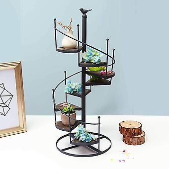 Modern Decorative Iron Plant Rack Stand Plants Succulent Shelf 8 Layer Stair