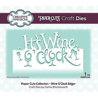 Kreative udtryk Papir Cuts Collection Cutting Dies - Vin O 'Clock Edger