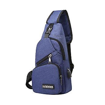 Men's Shoulder Bag Sling Chest Pack Canvas Sports Crossbody Handbag