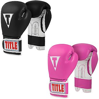 Title Boxing Classic Pro Style 3.0 Hook and Loop Leather Training Boxing Gloves