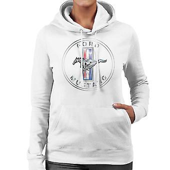 Ford Mustang Emblem Women's Hooded Sweatshirt