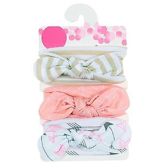 Nuovo baby cotone misto fasce dot stampato nodo fasce headwear set