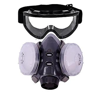 New Dust Mask, Respirator Dual Filter Half Face Mask