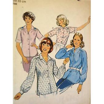 Style Sewing Pattern 2220 Misses Ladies Shirts Size 10 Uncut Vintage