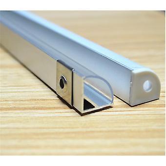 2-30kpl / erä 45 asteen kulma-alumiiniprofiili led-nauhalle