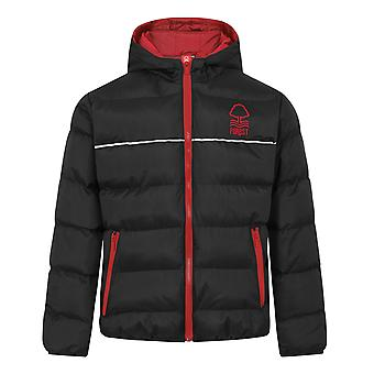 Nottingham Forest Boys Jacket Hooded Winter Quilted Kids OFFICIAL Football Gift